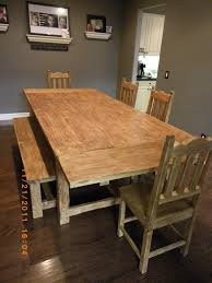 kitchen table with bench and chairs wooden