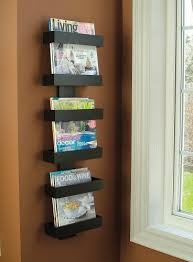 Magazine Holders For Bookshelves Beauteous Amazon Modern Magazine Rack Wall Mounted Magazine Racks