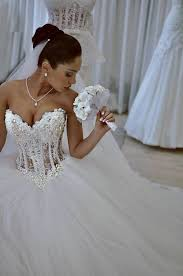 corset bodice wedding dress. aliexpress.com : buy luxurious bling strapless wedding dresses corset bodice sheer bridal ball crystal pearl beads rhinestones dress s
