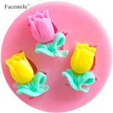 Meltset 15 Holes <b>Tulip Flower</b> Chocolate Silicone Mold DIY