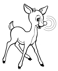 Small Picture Rudolph Reindeer Coloring Page Holiday Christmas Winter