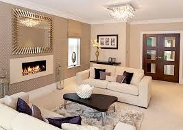 formal living room color ideas with accent wall and fireplace under wall mirrors