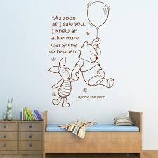 winnie the pooh es wall stickers free e winnie the pooh wall sticker art girls