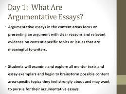argumentative essay immersion ppt video online  day 1 what are argumentative essays
