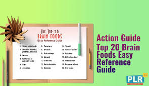 Top 20 Brain Foods Easy Reference Guide