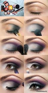 this dark violet eye makeup perfectly brings out the iness of brown eyes