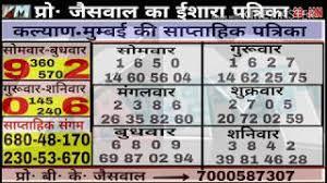 Kalyan Patrika Chart 02 02 2018
