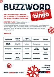 Office Bingo Play Buzzword Bingo This Christmas Turner Ink Copywriting Blog
