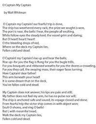 essay o captain my captain home rsaquo essay o captain my captain acircmiddot annabel lee by edgar allan poe summary analysis amp theme video