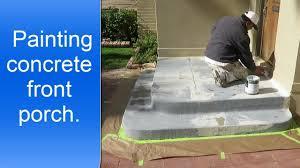 painting exterior concrete porch