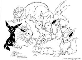 Small Picture EEVEE COLORING Pages Free Download Printable