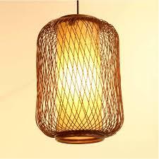 handmade bamboo lantern restaurant ceiling pendant lamp dining room balcony kitchen room restaurant chandelier light fixtures pendant lamps kitchen island
