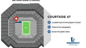 Arthur Ashe Stadium Seating Chart Lower Promenade Arthur Ashe Stadium Seat Recommendations The Ticketcity Update Desk