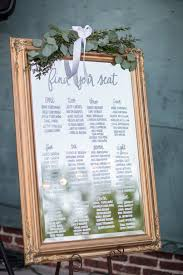 Picture Frame Seating Chart Wedding Reception Seating Chart On Mirror With Gold Frame
