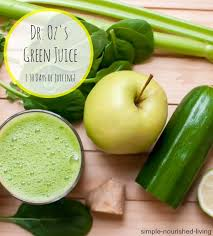 dr oz s green drink juicing for