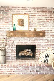 refacing brick fireplace ideas painted red