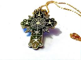 details about golden dawn rose cross lamen talisman solid brass rosicrucian occult magick