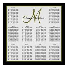 30 Wedding Seating Chart Poster Templates Simple Template