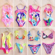Image Is Loading Kids Baby Girls Cartoon Summer Swimwear Bikini Tankini
