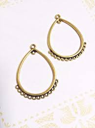 chandelier earring connectors gold earring findings gold pendants earring blanks 1 of 1only 1 available