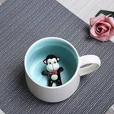 WRYLNN Mug <b>Creative Cartoon</b> Cat Beer <b>Coffee</b> Cups 3D Cute ...