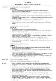 Supervisor Diagnostic Imaging Resume Samples Velvet Jobs