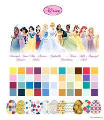 Princess Paint Colour Chart Disney Princess Color Schemes Google Search Disney