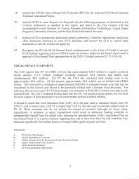 REPORT OF THE CHIEF LEGISLATIVE ANALYST June 3, 2020