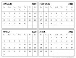 february printable calendar 2019 jan feb march april 2019 calendar template calendar printable