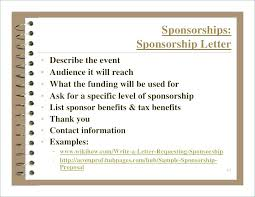Example Of A Sponsorship Proposal Stunning Fundraising For The Small Nonprofit Presentation A Business Proposal