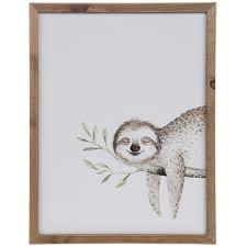 sloth wood wall decor hobby lobby