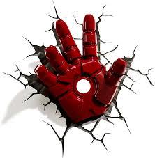 Marvel Avengers 3d Wall Lights 3dlightfx Marvel Avengers Iron Man Hand 3d Deco Light