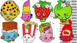 Small Picture Shopkins Coloring Book Compilation Season 1 Lippy Lips Kooky