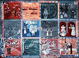 Faith Ringgold - NYC Department of Cultural Affairs & The Crown Heights Children's Story Quilt, Painted Quilt, 1996. Â« Adamdwight.com
