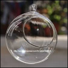 Decorative Ball Holder Wholesale 60cm hanging glass candle holders vase glass christmas 45