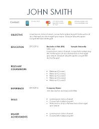 Resume For Internships Template Internship Resume Template