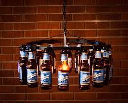 beer bottle chandelier image