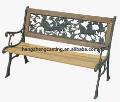 garden bench slats wood cast iron outdoor for