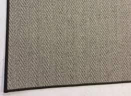 48 x72 gray herringbone wool rug