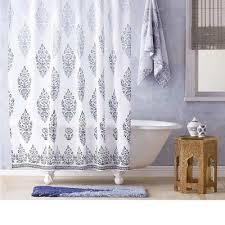jalati indigo shower curtain by john robshaw