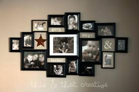 family collage frames free picture photo with wall mount star also label names
