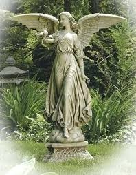 outdoor garden statues. Large Outdoor Garden Statues Angel On Pedestal Statue From The Studio Statuary Collection