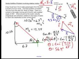 relative motion vector addition physics challenge problem  relative motion vector addition physics challenge problem