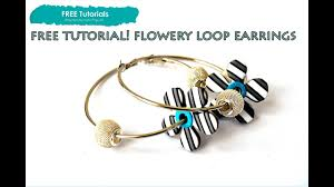 polypedia tv free how to polymer clay flower loop earrings project tutorial