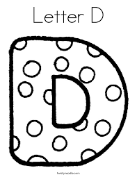 Small Picture Letter D Coloring Pages Twisty Noodle