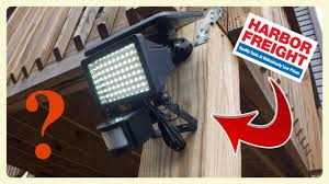 Solar Security Light Item 69643 Harbor Freight 60 Led Motion Security Light Review