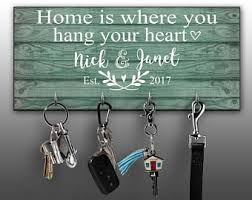 Personalized Key Ring Holder, Family Key Holder, Home Key Rack, Couples Key  Hanger