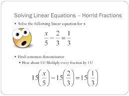 11 solving linear equations horrid fractions