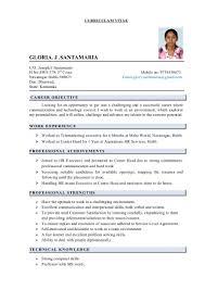 glory resume