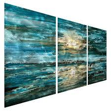 wall art ocean the sea metal wall art vinyl wall art beach theme